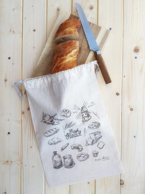 Conservation du pain avec ce sac à pain - Zéro Déchet - Sans plastique