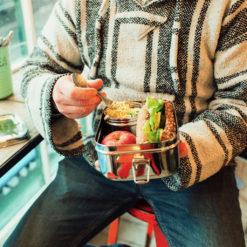 Boîte Lunchbox en acier inoxydable pour la pause à midi