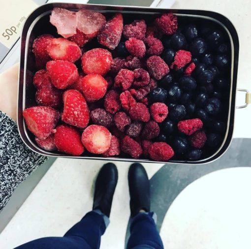 Boîte en inox pour conserver les aliments dans le frigo ou dans le congélateur